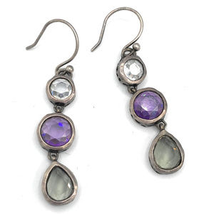 W2283 Silpada Sterling Silver PLUM PRETTY Earrings